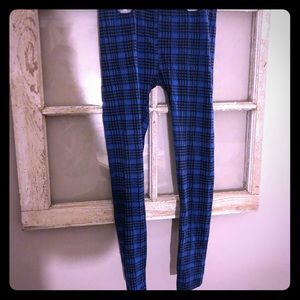Leggings!! Blue Houndstooth pattern. Small.